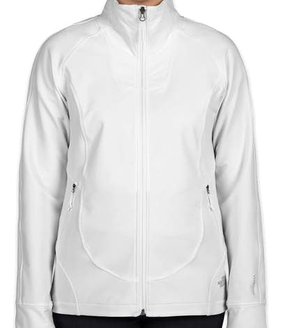 The North Face Ladies Tech Stretch Soft Shell Jacket - White