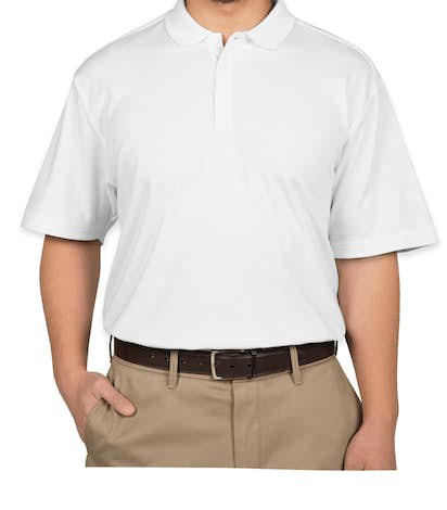 Port Authority Silk Touch Interlock Jersey Polo - White
