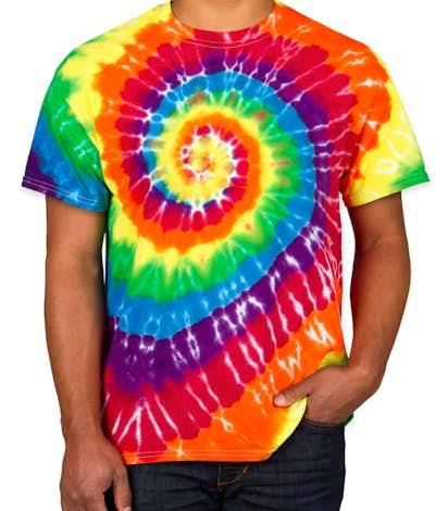 Custom Dyenomite 100% Cotton Rainbow Tie-Dye T-shirt - Design ...