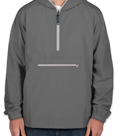 Charles River Pack-N-Go Hooded Packable Anorak - Grey