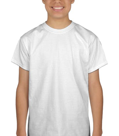 Port & Company Youth 100% Cotton T-shirt - White