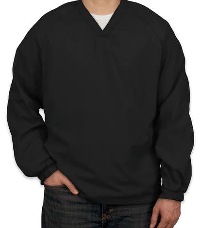 Sport-Tek V-Neck Windshirt - Black
