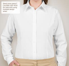 Ultra Club Ladies Easy Care Broadcloth Dress Shirt - Color: White