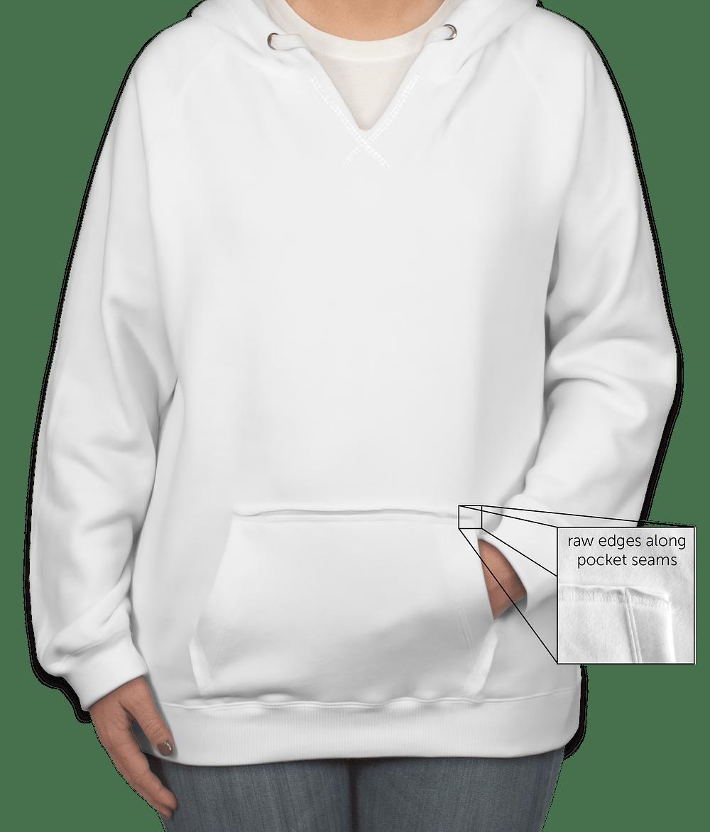 Custom J. America Ladies V-Neck Pullover Hoodie - Design Ladies ...