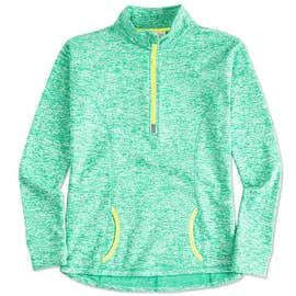 J. America Ladies Cosmic Quarter Zip Performance Pullover