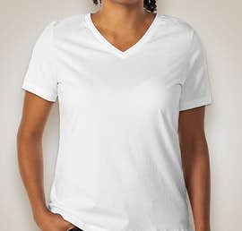 Bella Ladies V-Neck T-shirt - Color: White