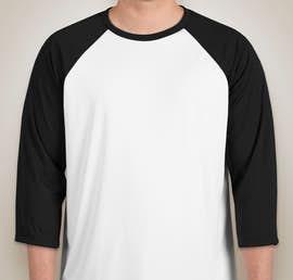 Canada - All Sport Performance Baseball Raglan - Color: White / Black