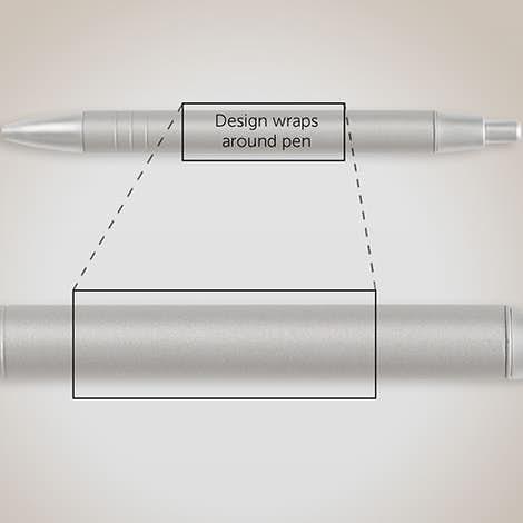 BIC WideBody Metal Ball Pen (black ink) - Silver / Chrome