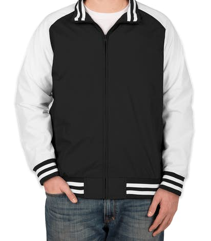 Team 365 Varsity Jacket - Black / White