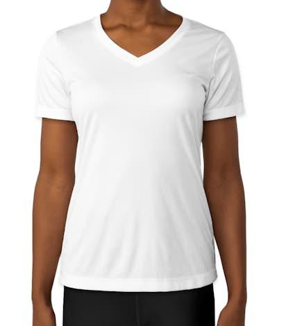 Sport-Tek Ladies Competitor V-Neck Performance Shirt - White