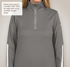 Under Armour Ladies Qualifier Performance Quarter Zip - Color: Graphite / White