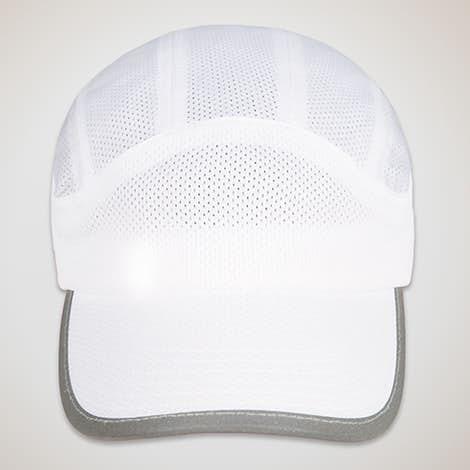 Big Accessories Mesh Performance Running Hat - White