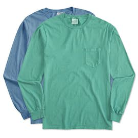 Port & Company Pigment Dyed Long Sleeve Pocket T-shirt