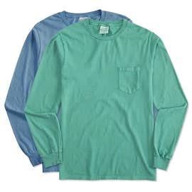 Port & Company Pigment Dyed Long Sleeve Pocket T-shirt