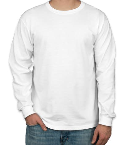 Custom canada jerzees 50 50 long sleeve t shirt design for Custom 50 50 t shirts
