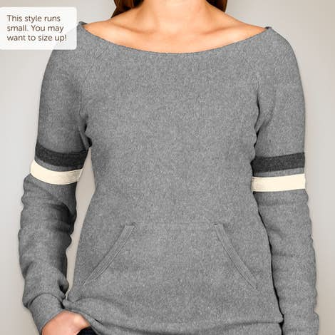 Canada - Alternative Apparel Ladies Tri-Blend Wideneck Sweatshirt - Eco Grey