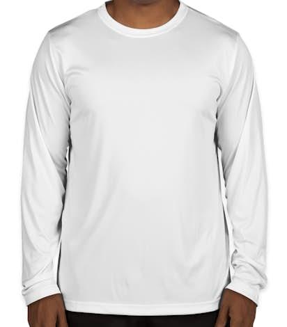 Team 365 Zone Long Sleeve Performance Shirt - White
