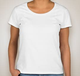 Gildan Ladies Softstyle Scoop Neck T-shirt - Color: White