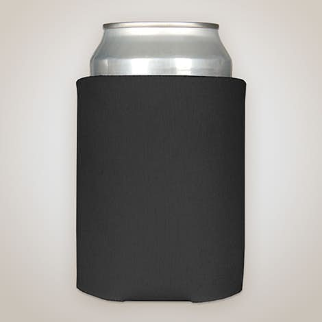Full Color Photo Can Cooler - Black