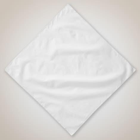 100% Solid Cotton Bandana (Corner Design) - White