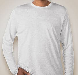 Next Level Tri-Blend Long Sleeve T-shirt - Color: Heather White