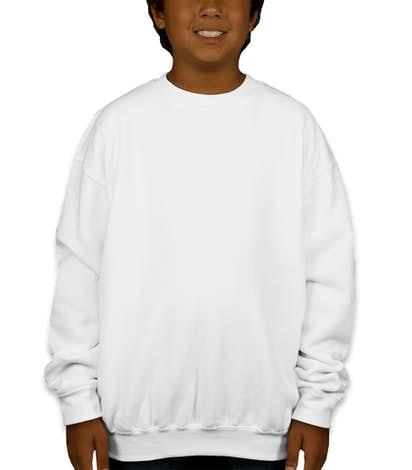 Gildan Youth Midweight 50/50 Crewneck Sweatshirt - White