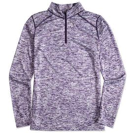 Badger Ladies Heather Quarter Zip Performance Shirt