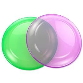 Transparent Frisbees