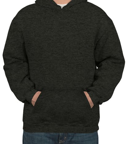 Bayside Heavyweight USA Pullover Hoodie - Charcoal Heather