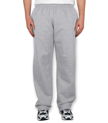 Gildan 50/50 Open Bottom Sweatpants - Ash