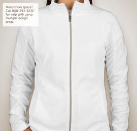 Port Authority Ladies Full Zip Microfleece Jacket - Color: White