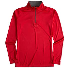 Badger Ladies Contrast Quarter Zip Performance Shirt