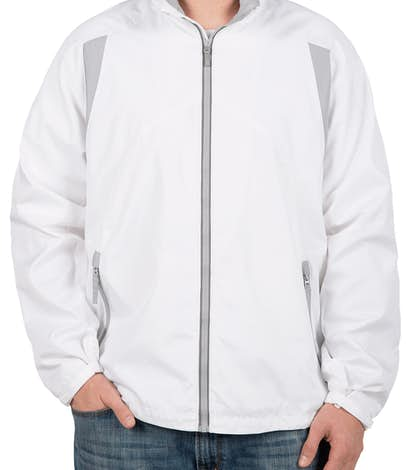 North End Contrast Lightweight Colorblock Jacket - White