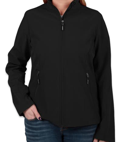 Core 365 Ladies Fleece Lined Soft Shell Jacket - Black