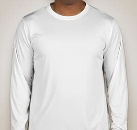 Team 365 Zone Long Sleeve Performance Shirt - Color: White