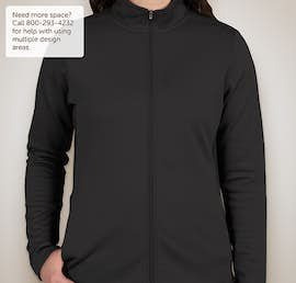 Champion Ladies Performance Full Zip Jacket - Color: Black / Black