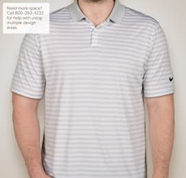 Limited Edition Nike Victory Stripe Performance Polo - Color: Pure Platinum / White