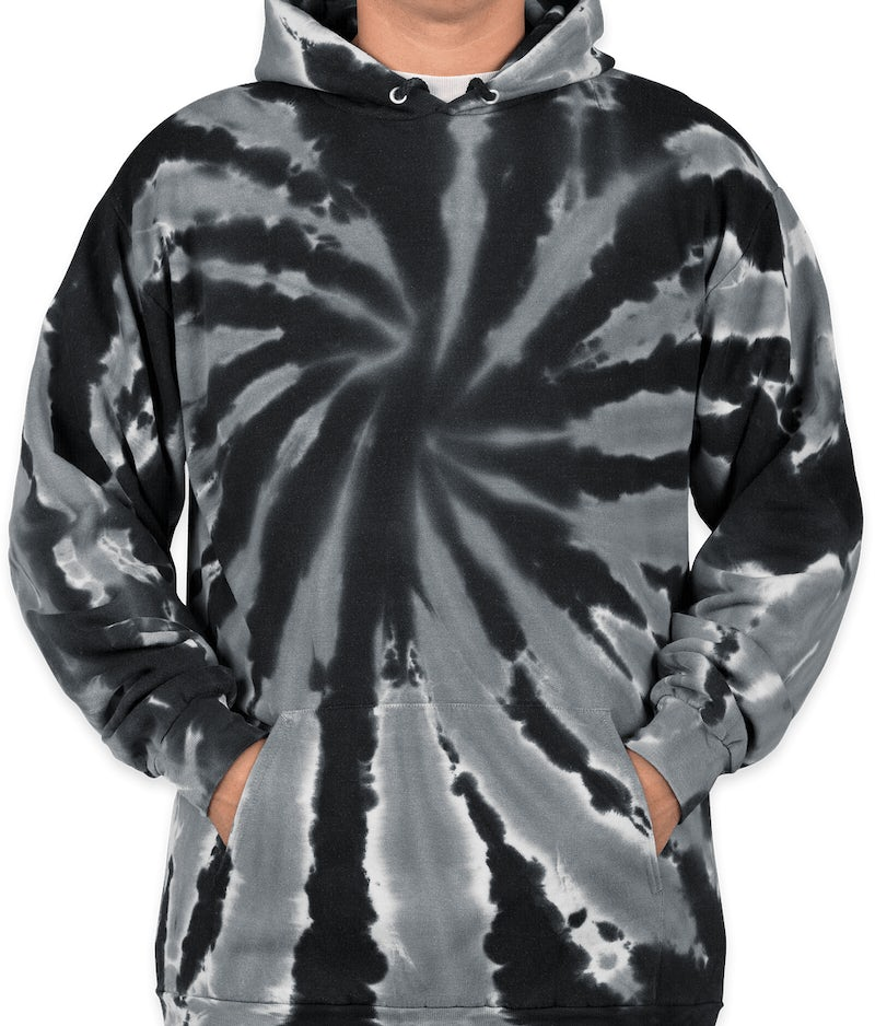custom port and company tie dye pullover hoodie design. Black Bedroom Furniture Sets. Home Design Ideas