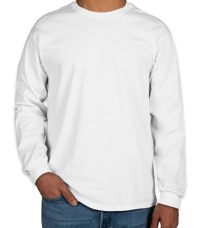 Design Custom Printed Gildan Ultra Cotton Long-sleeve T-Shirts ...