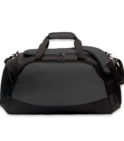 Medium Active Duffel Bag - Embroidered - Dark Charcoal / Black