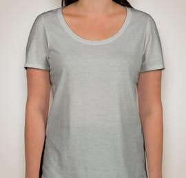 Nike Ladies 100% Cotton T-shirt - Color: Dark Grey Heather