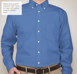 Devon & Jones Solid Dress Shirt - Color: French Blue