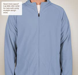 Team 365 Full Zip Microfleece Jacket - Color: Sport Light Blue