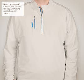 Adidas Golf Contrast Quarter Zip Pullover - Color: Clear Onix / Bright Cyan