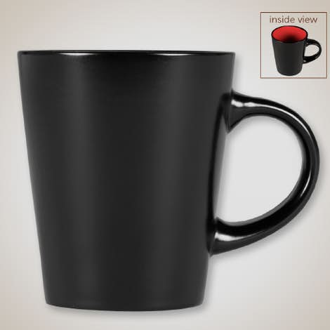 12 oz. Ceramic Two-Tone Noir Mug - Black / Red