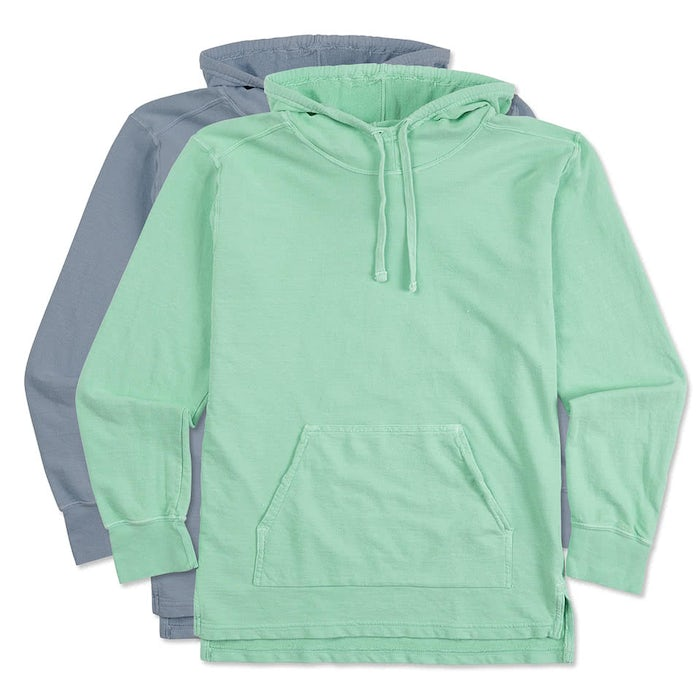 sweatshirt hoodie casual p comfort style dyed colors colours ebay seafoam hooded soft comforter s