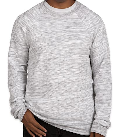 Canvas Ultra Soft Crewneck Sweatshirt - Light Grey Marble