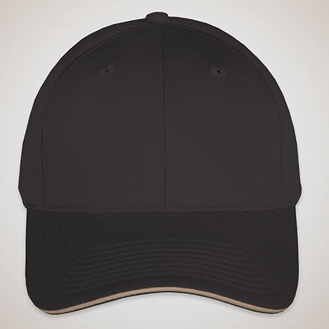 Port & Company Sandwich Bill Hat - Black / Khaki