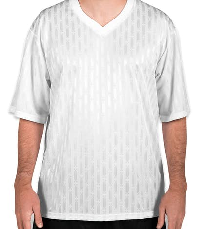 Teamwork Cascade Soccer Jersey - White / White / White