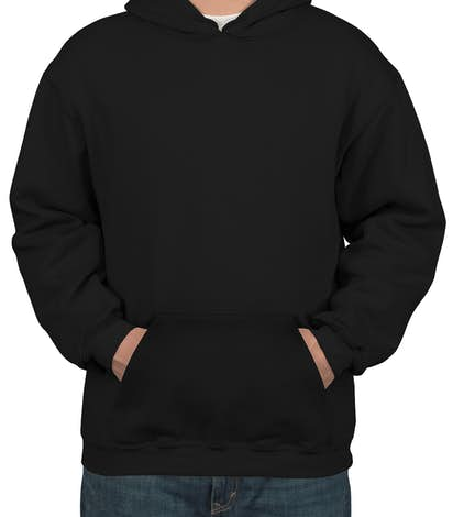 Bayside Heavyweight USA Pullover Hoodie - Black